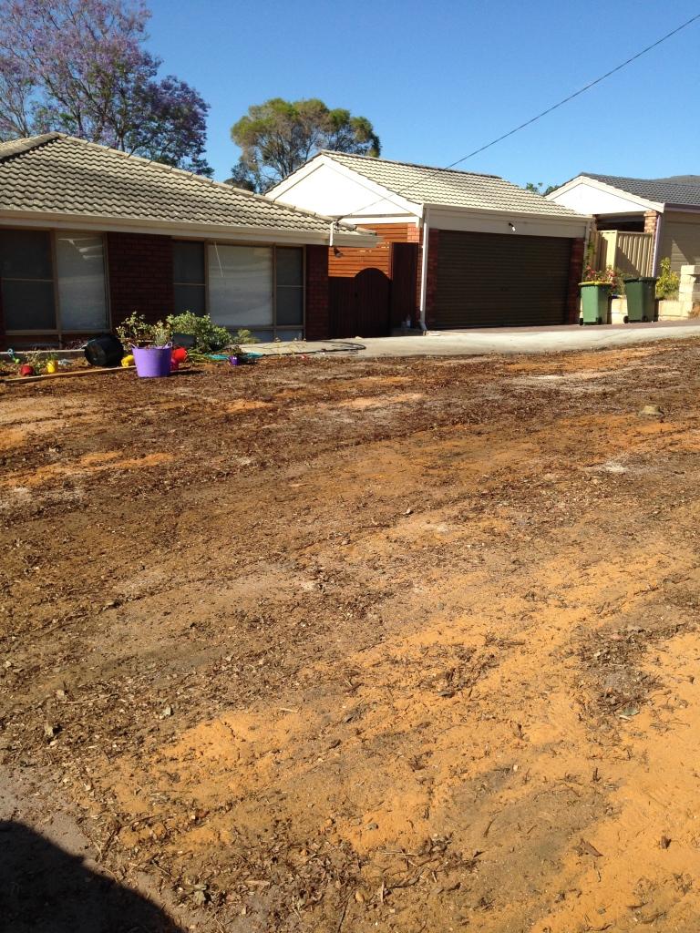 Glenrowan Place Willetton final preparation before soil soil goes down