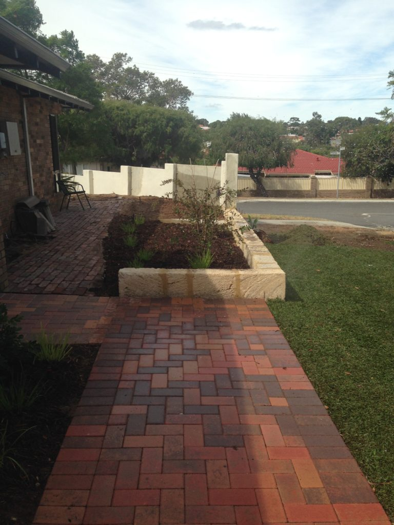 Paving and garden beds complete